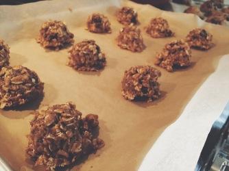 before baking...